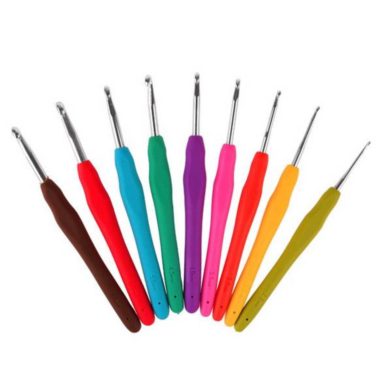 Набор крючков с силиконовой ручкой № 2-6 мм (9 шт)