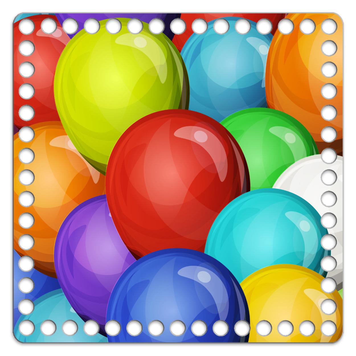 Квадрат 20 см. Воздушные шары