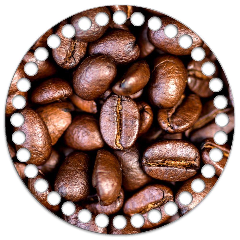 Круг 15 см. Кофе