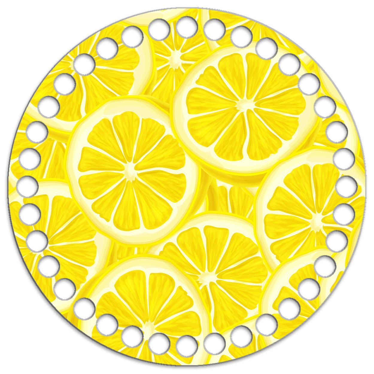 Круг 15 см. Лимоны