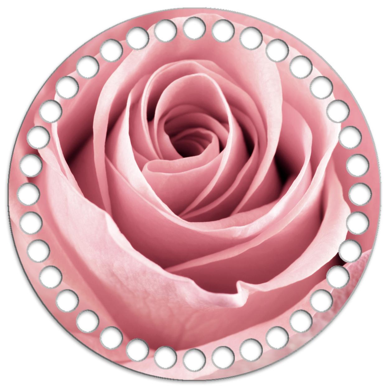 Круг 15 см. Пыльная роза