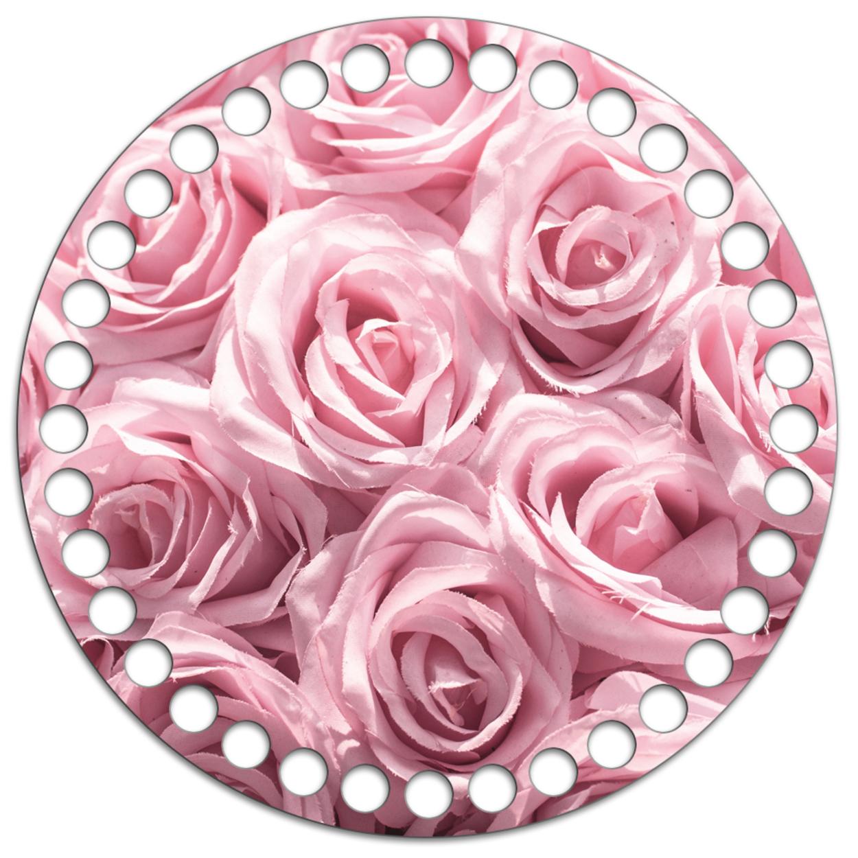 Круг 15 см. Букет роз