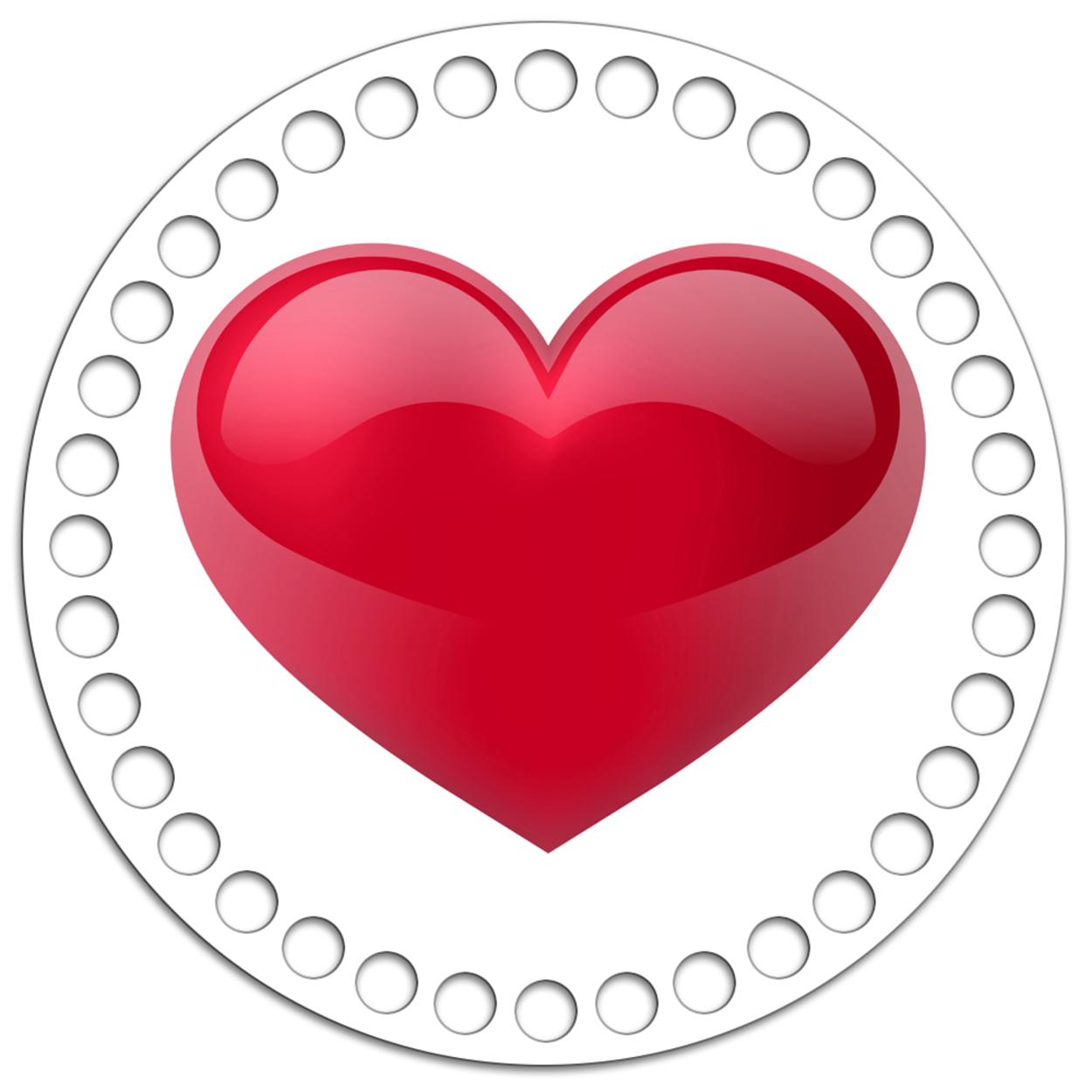 Круг 15 см. Love is 1