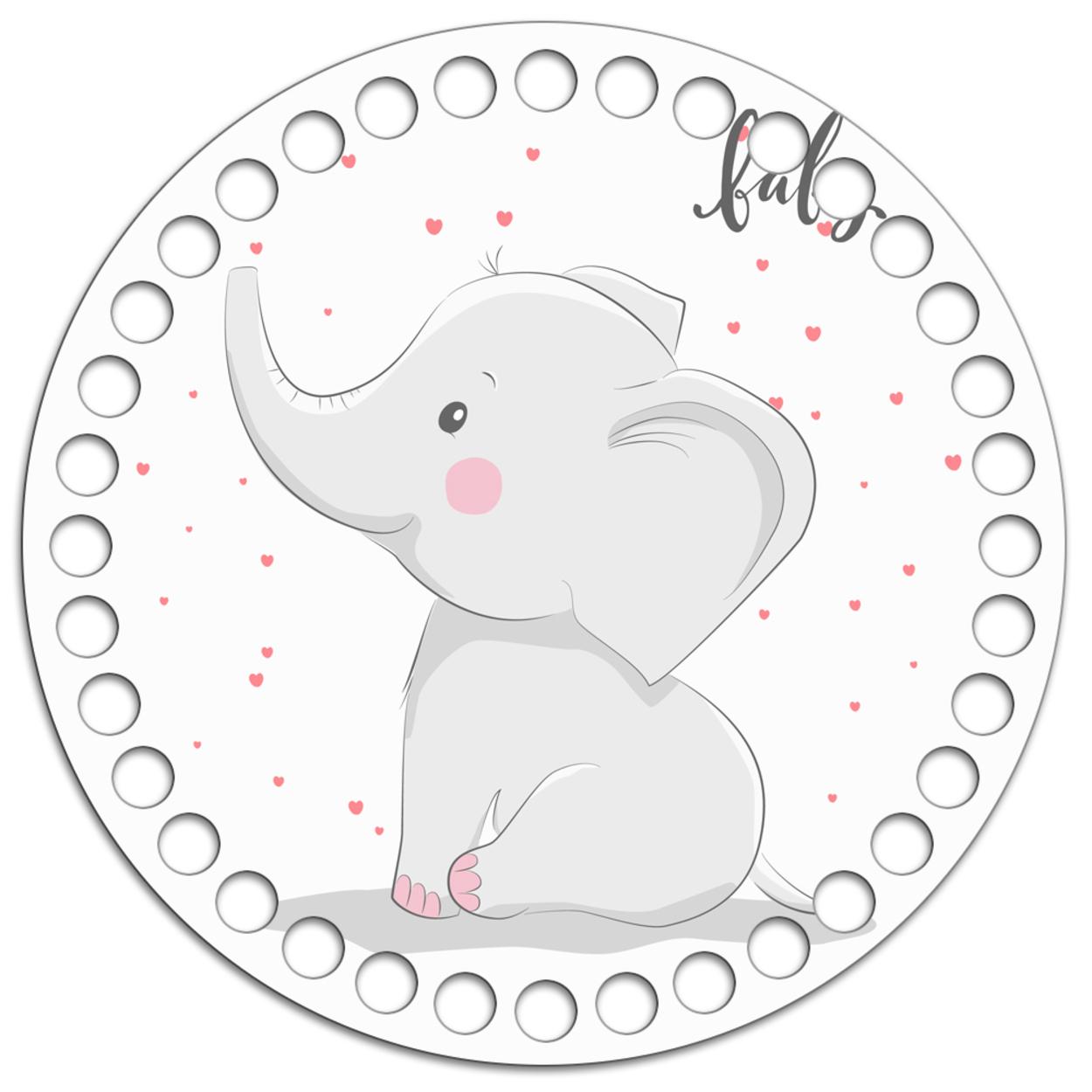Круг 15 см. Слонёнок Baby
