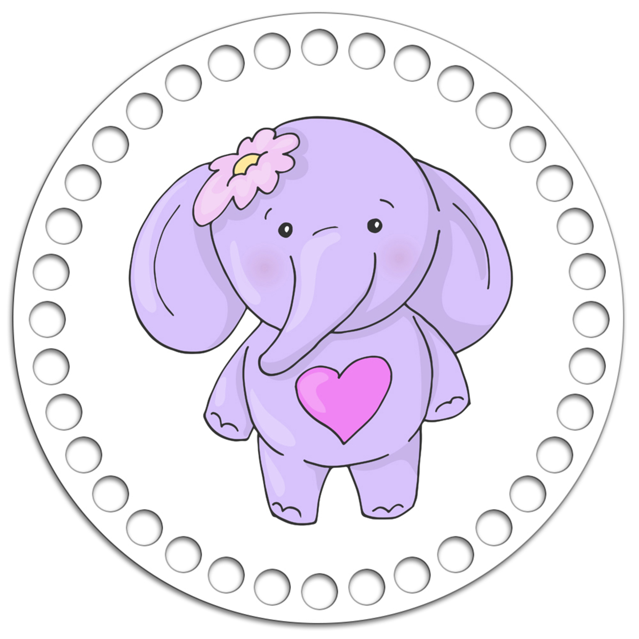 Круг 15 см. Слонёнок Friendly