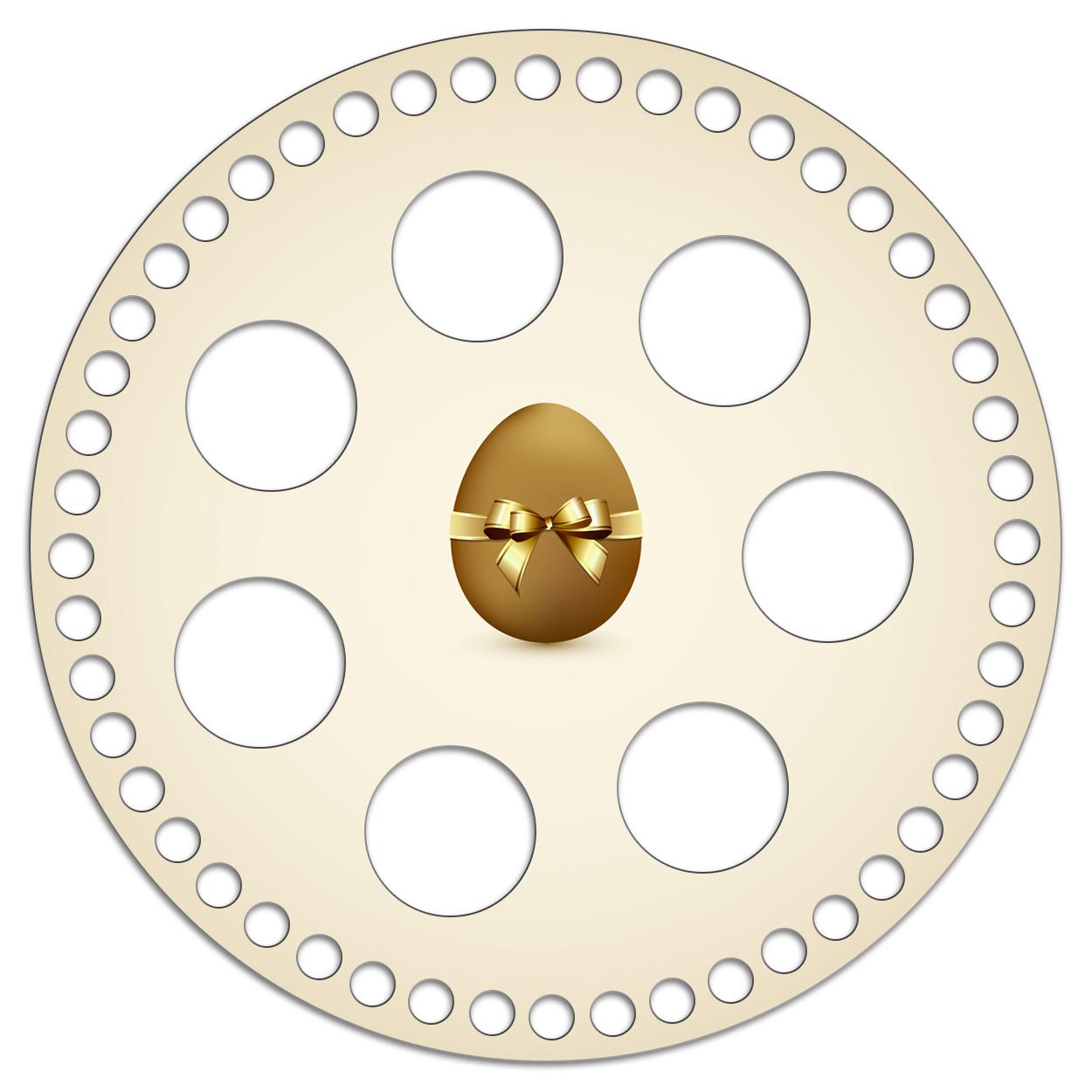 Круг 20 см. Золотое яйцо