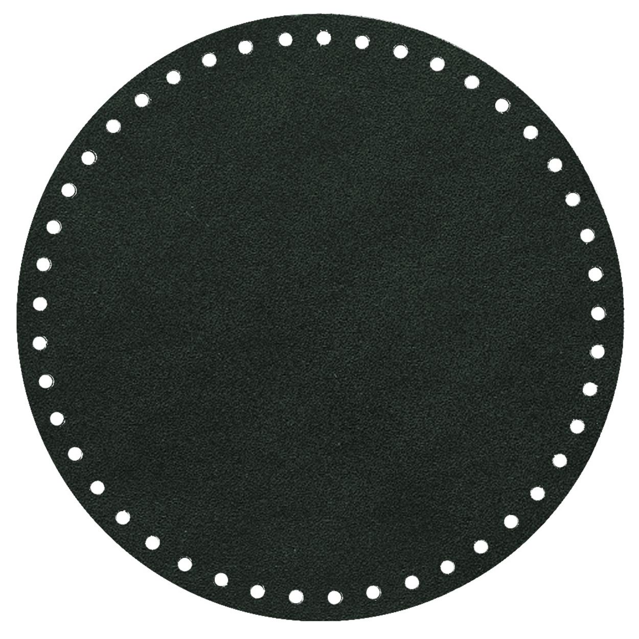 Кожа - Дно для сумки круглое 20 см. Dark green
