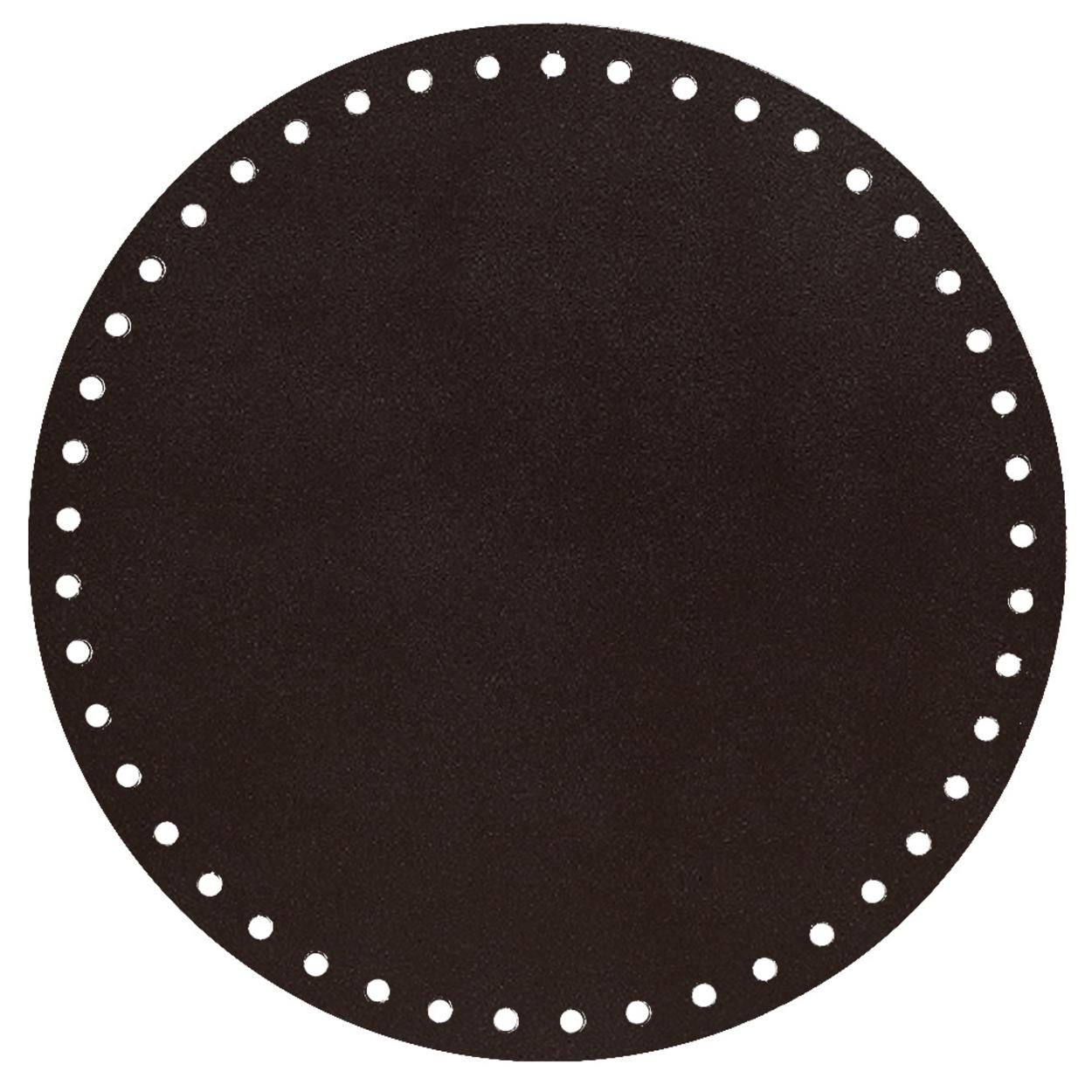 Кожа - Дно для сумки круглое 20 см. Горький шоколад