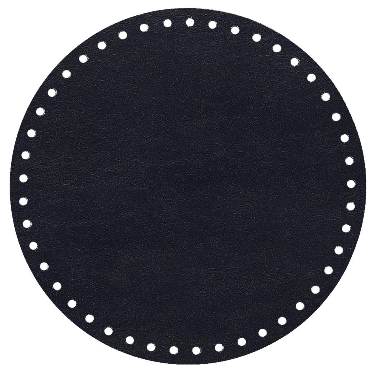 Кожа - Дно для сумки круглое 20 см. Midnight blue