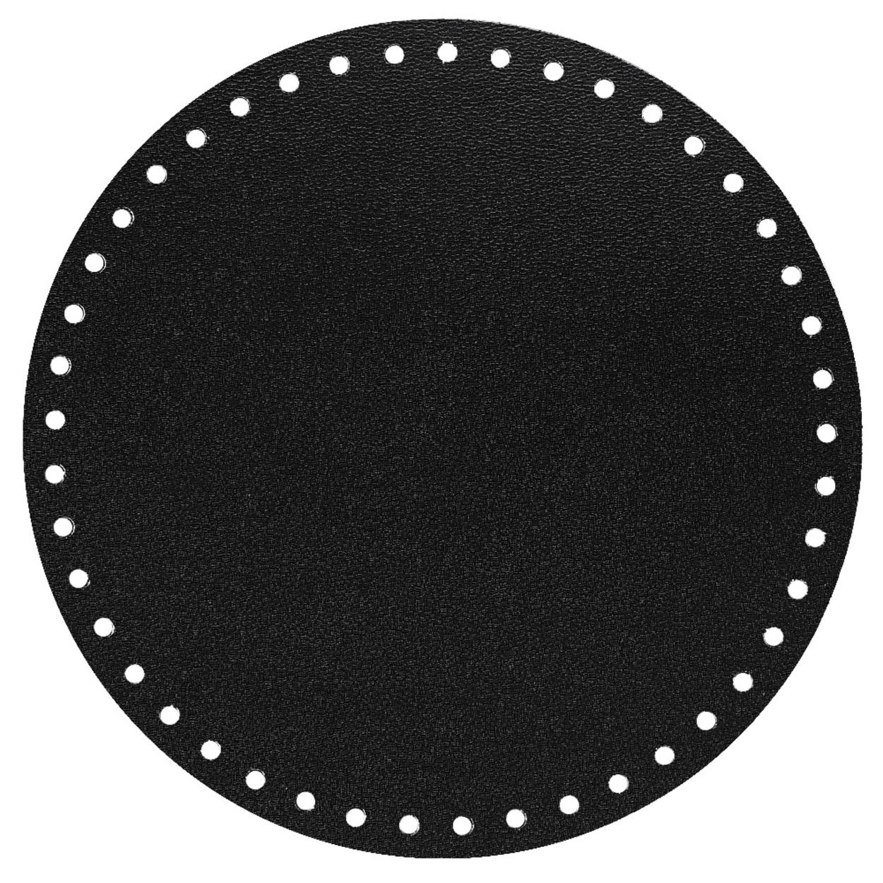 Кожа - Дно для сумки круглое 20 см. Royal black