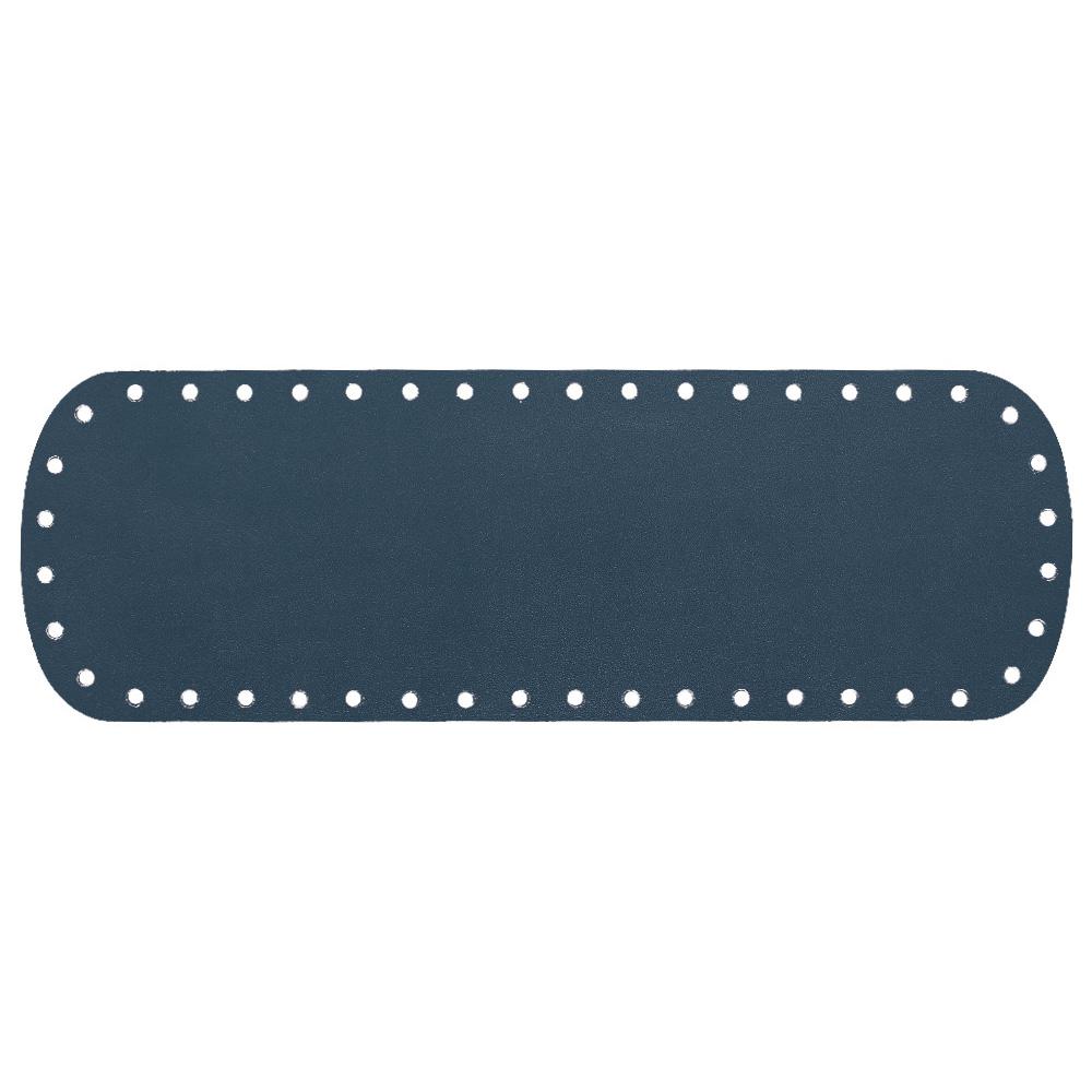Кожа — Дно для сумки 10 х 30 см. Navy blue