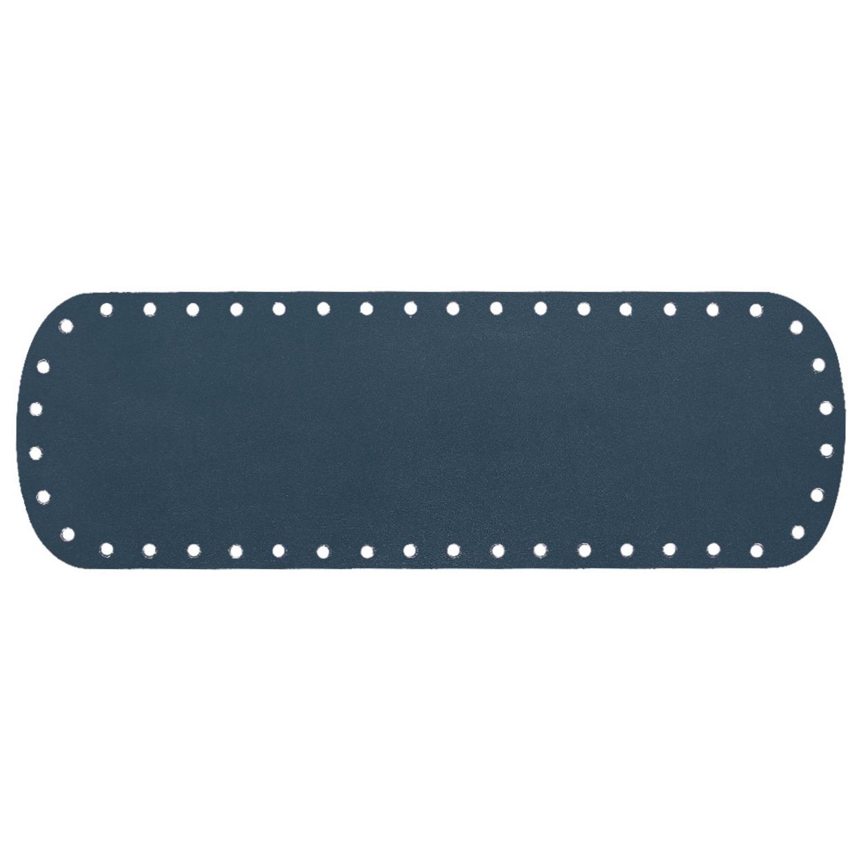 Кожа - Дно для сумки 10 х 30 см. Navy blue