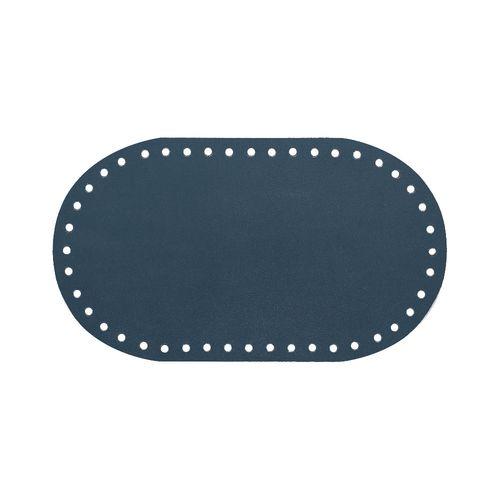 Кожа - Дно для сумки 12 х 21 см. Navy blue