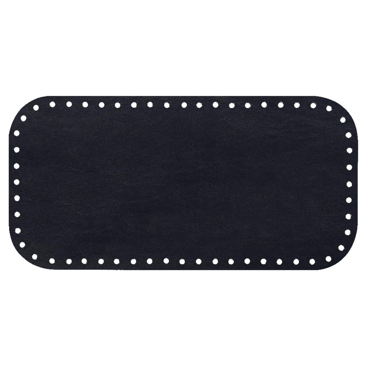 Кожа - Дно для сумки 15 х 30 см. Midnight blue