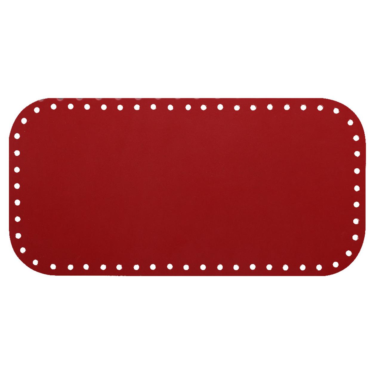 Кожа - Дно для сумки 15 х 30 см. Red hot