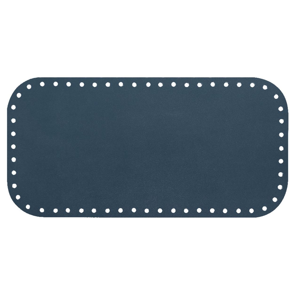 Кожа - Дно для сумки 15 х 30 см. Navy blue