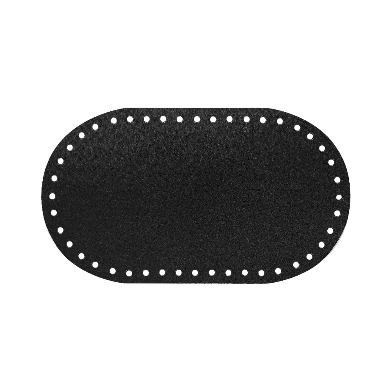 Кожа - Дно для сумки 12 х 21 см. Royal black