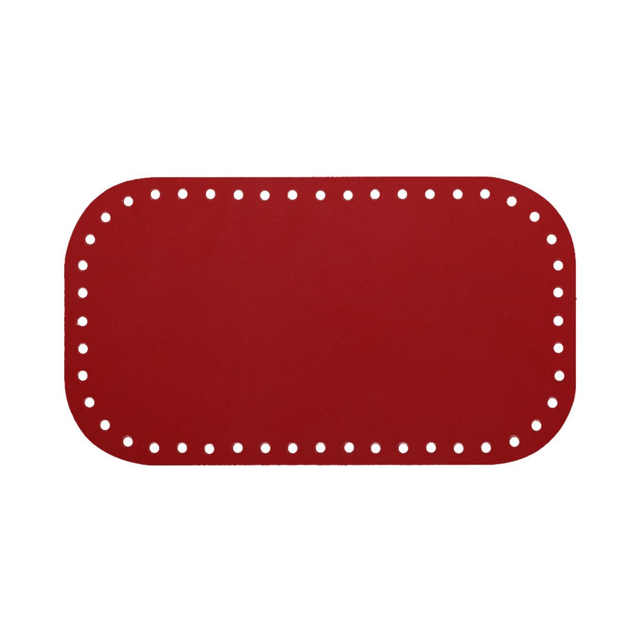 Кожа - Дно для сумки 12 х 21 см. Red hot