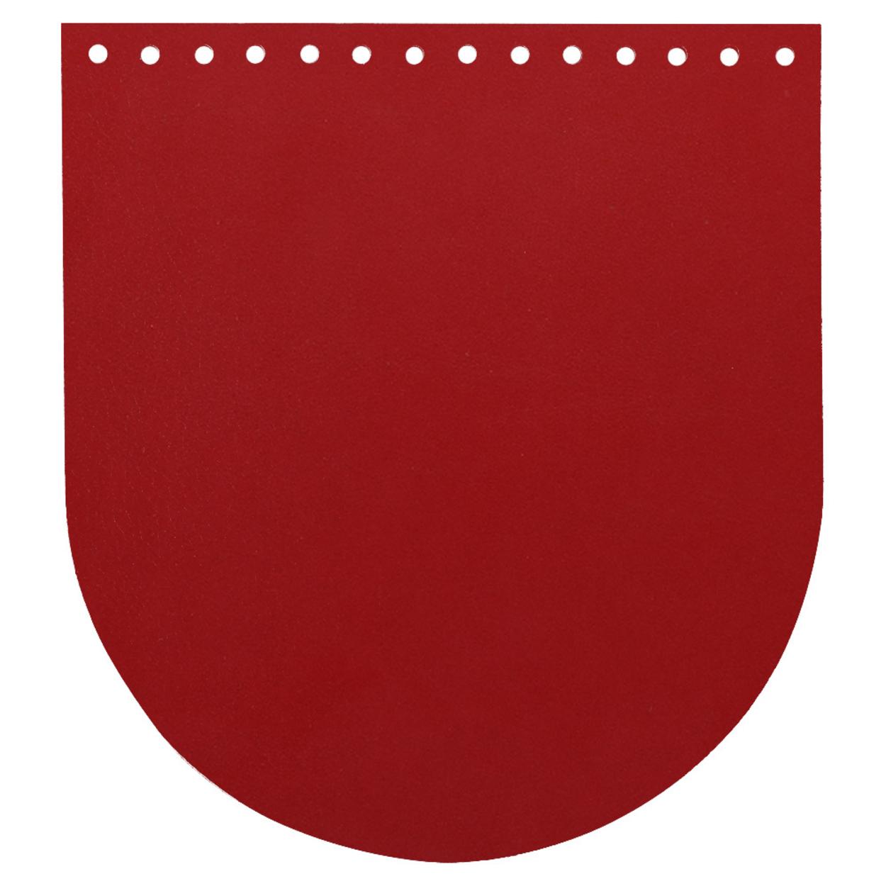Кожа - Крышка-клапан овал 20 х 22 см. Red hot