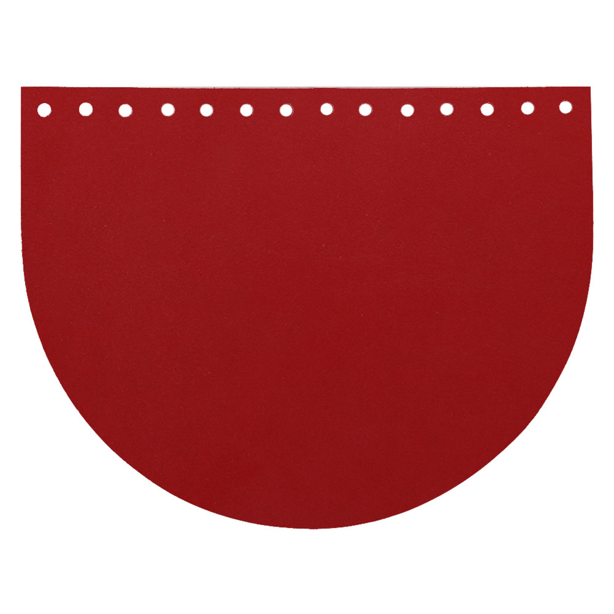 Кожа - Крышка-клапан овал 15 х 20 см. Red hot