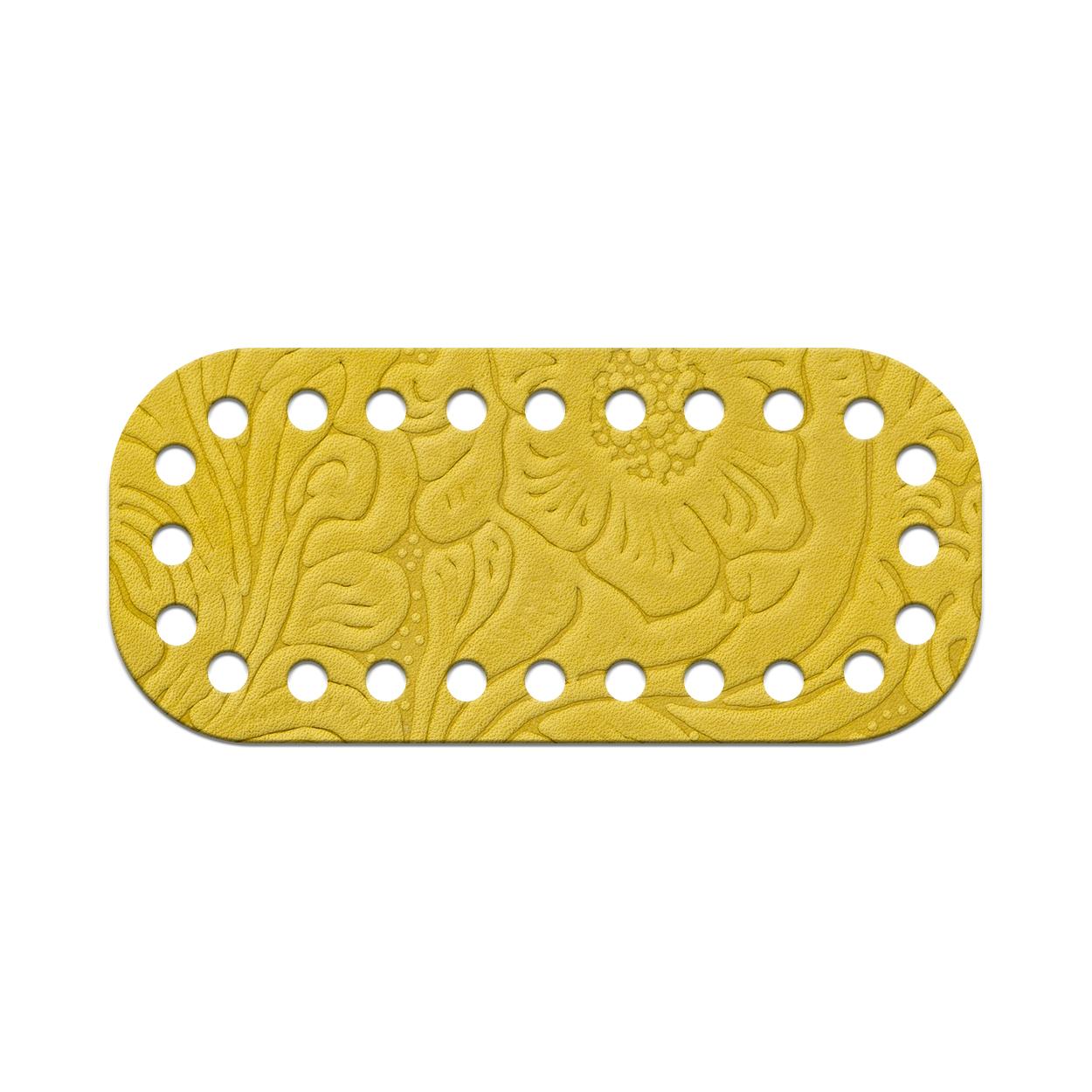 Кожа - Дно для сумки мини 5 х 11 см. Лимон