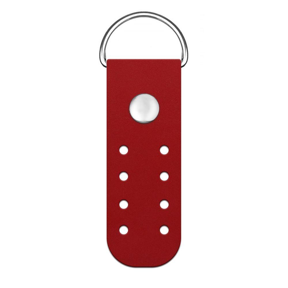 Кожа - Пришивное полукольцо мини Red hot