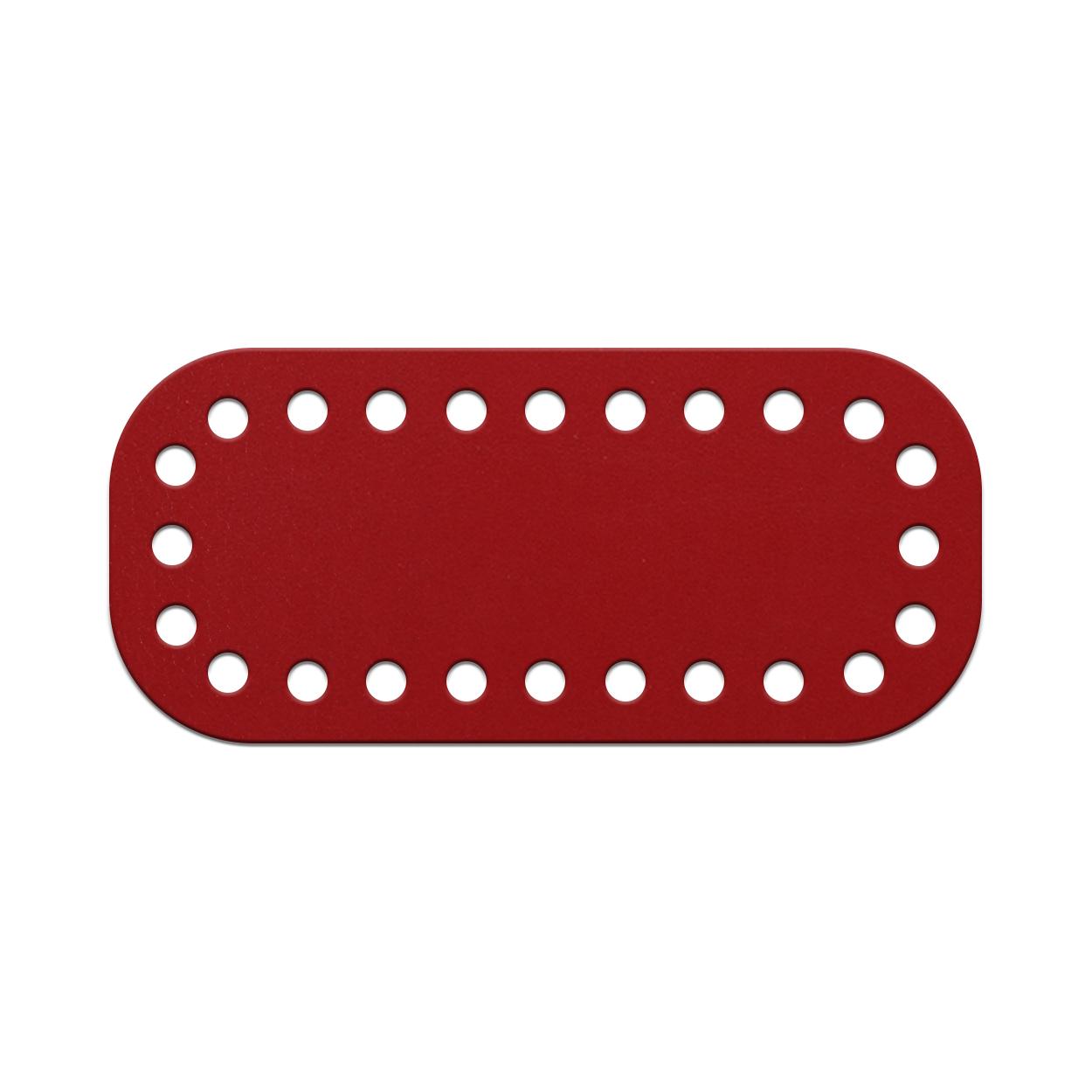 Кожа - Дно для сумки мини 5 х 11 см. Red hot
