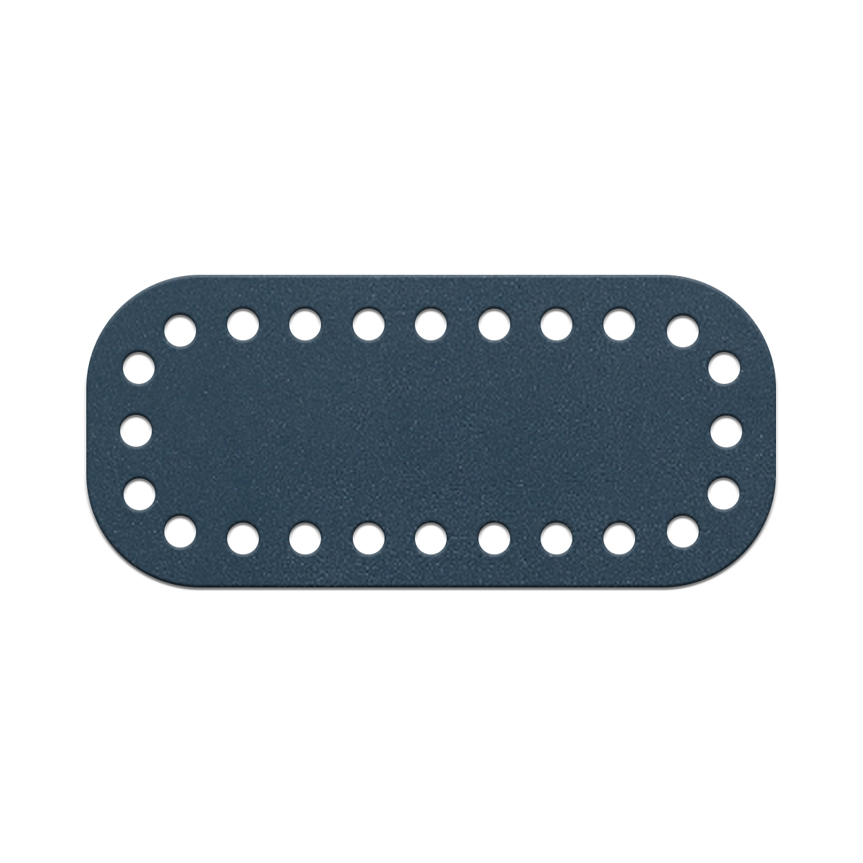 Кожа - Дно для сумки мини 5 х 11 см. Navy blue