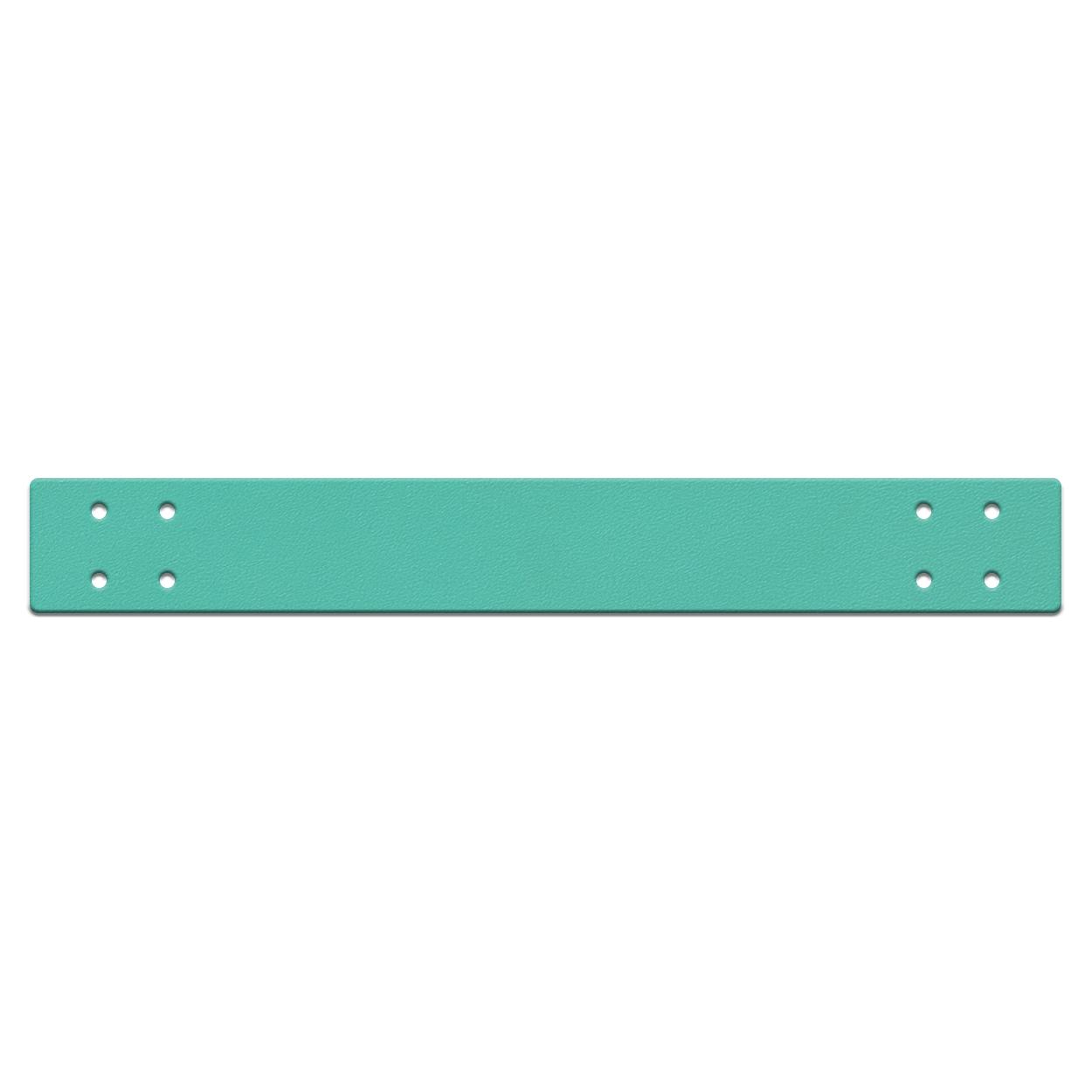 Кожа - Ручка для корзины 4 х 30 см. Бирюза