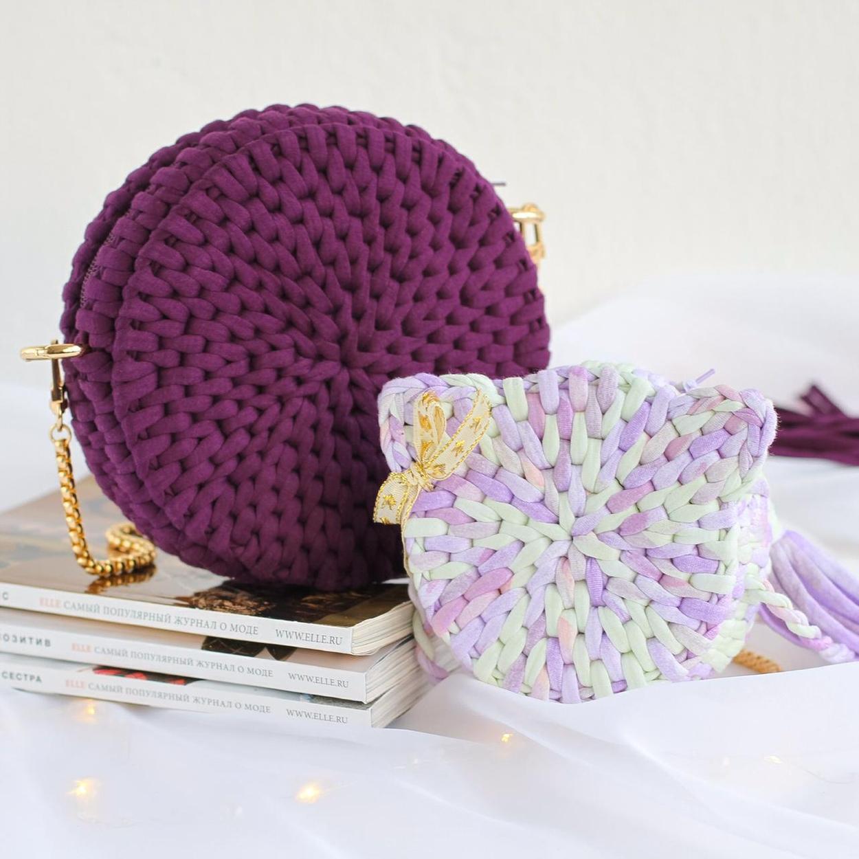 Мастер-класс сумочка-таблетка узором «ротанг»