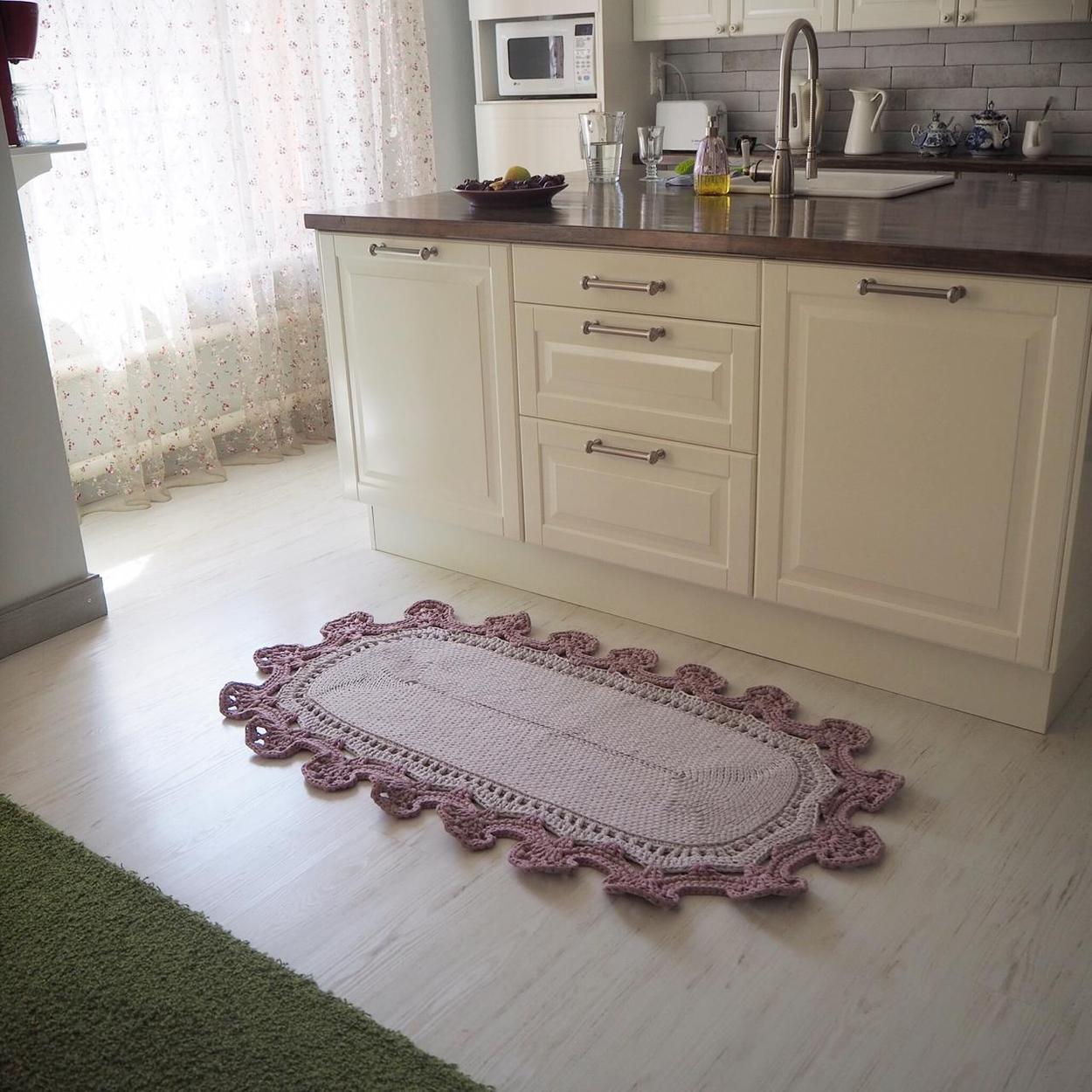 Мастер-класс ковёр Цветение сакуры