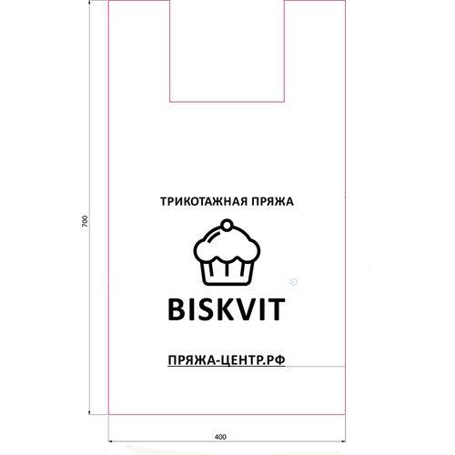 Фирменный пакет майка BISKVIT
