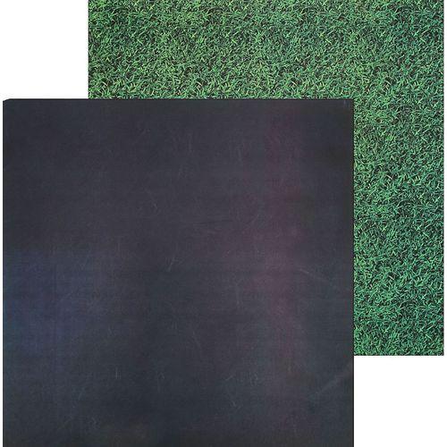 Фотофон двусторонний Грифельная доска-трава 45 х 45 см.
